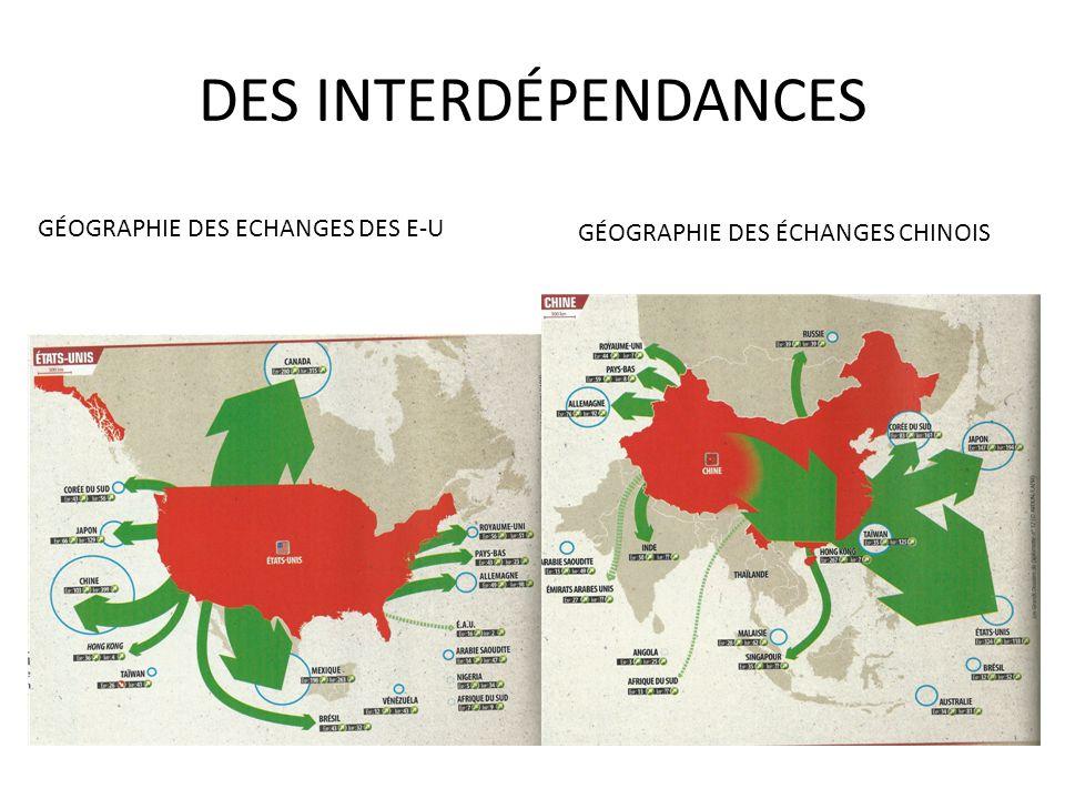DES INTERDÉPENDANCES GÉOGRAPHIE DES ECHANGES DES E-U