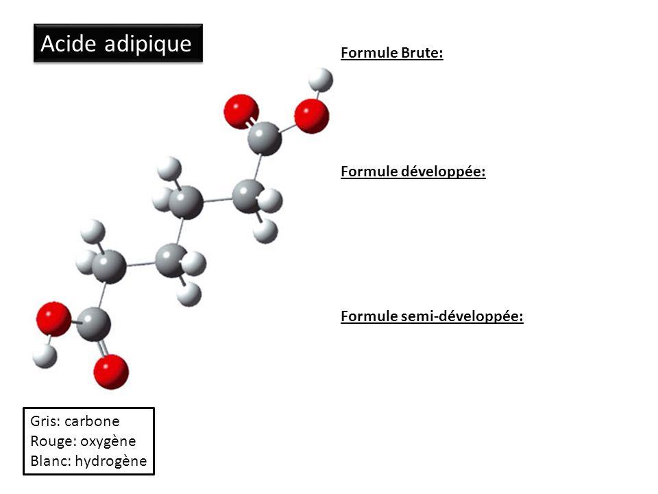 Acide adipique Formule Brute: Formule développée: