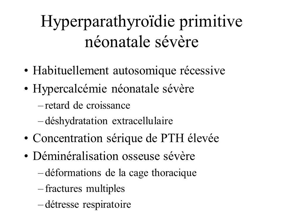 Hyperparathyroïdie primitive néonatale sévère