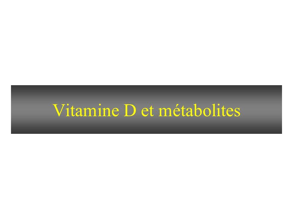 Vitamine D et métabolites