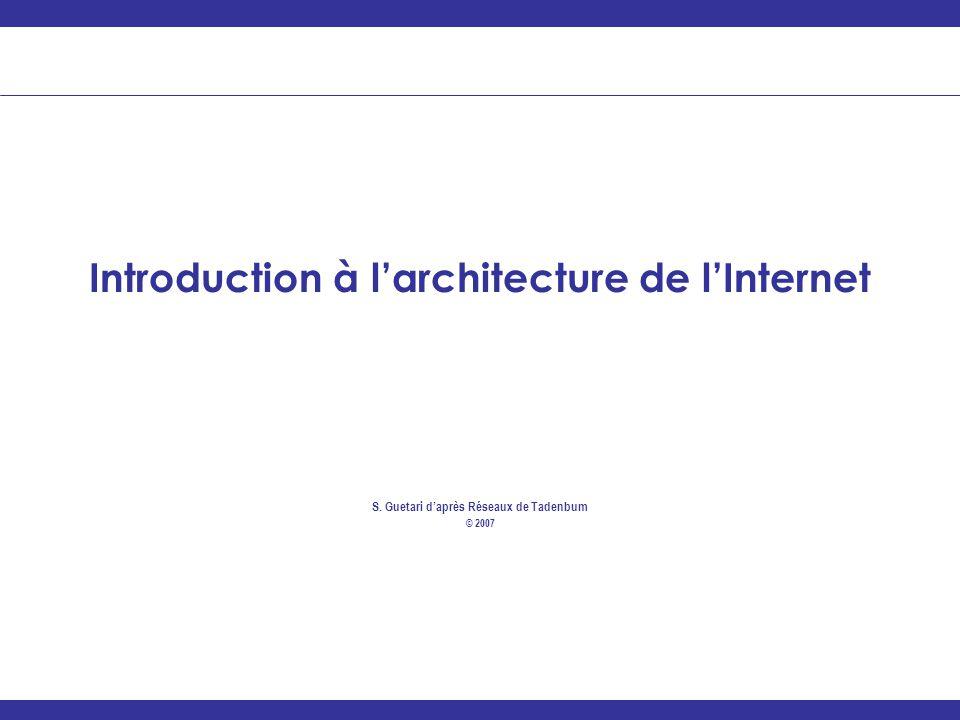 Introduction à l'architecture de l'Internet