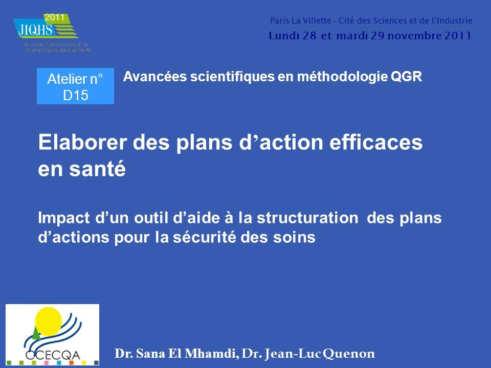 Dr. Sana El Mhamdi, Dr. Jean-Luc Quenon