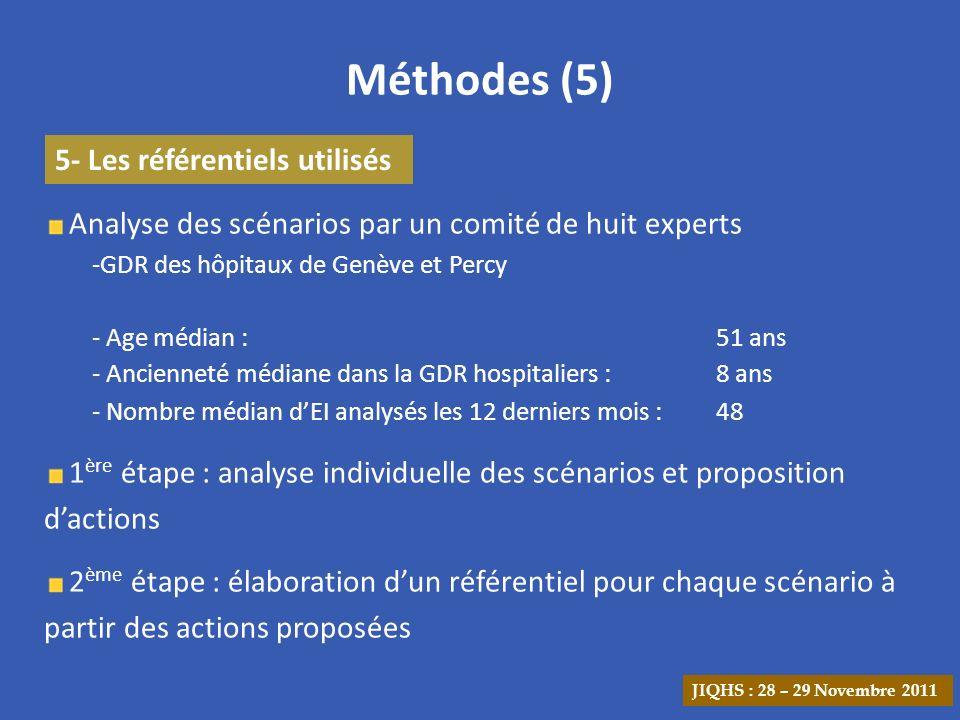 Méthodes (5) 5- Les référentiels utilisés