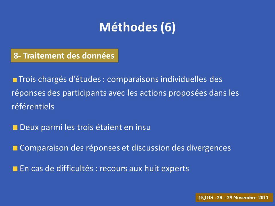 Méthodes (6) 8- Traitement des données