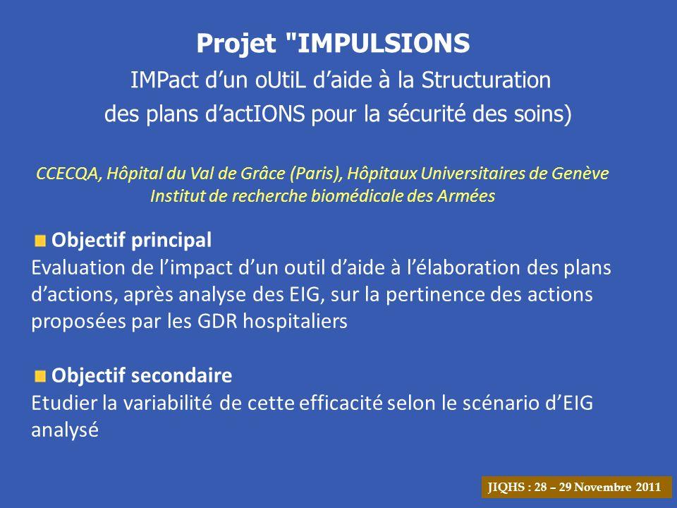 Projet IMPULSIONS des plans d'actIONS pour la sécurité des soins)