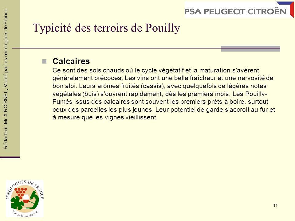 Typicité des terroirs de Pouilly