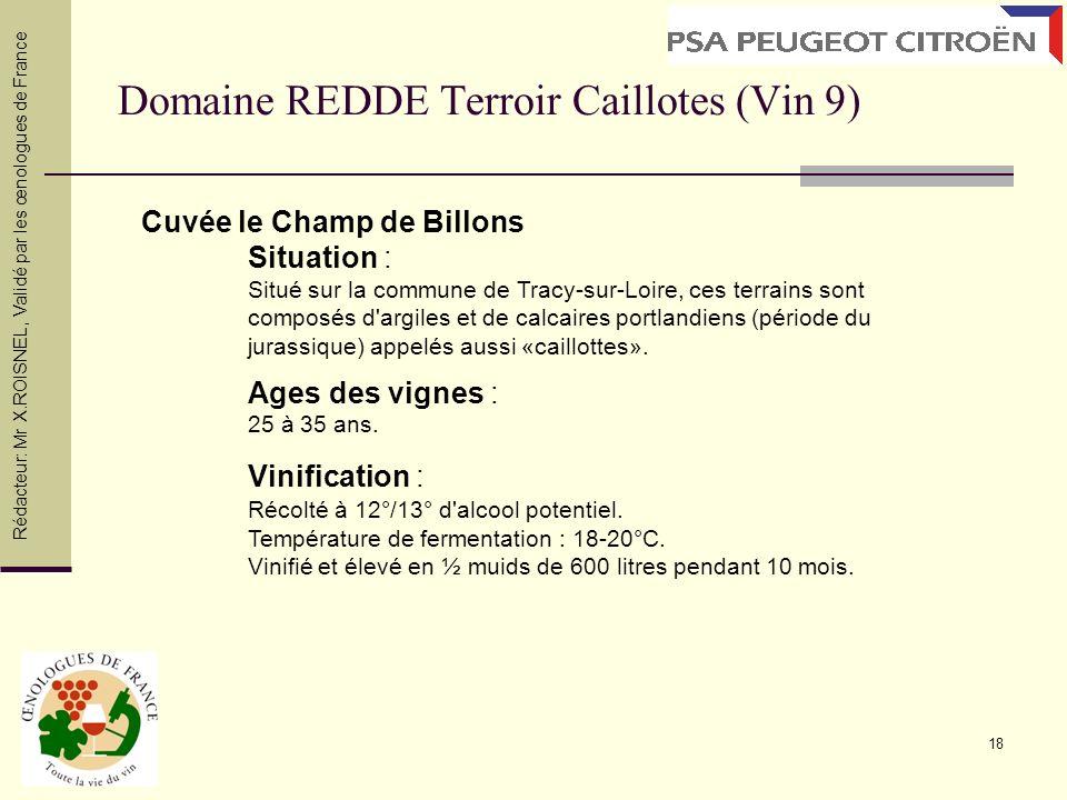 Domaine REDDE Terroir Caillotes (Vin 9)