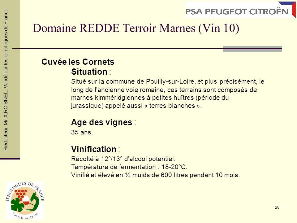 Domaine REDDE Terroir Marnes (Vin 10)