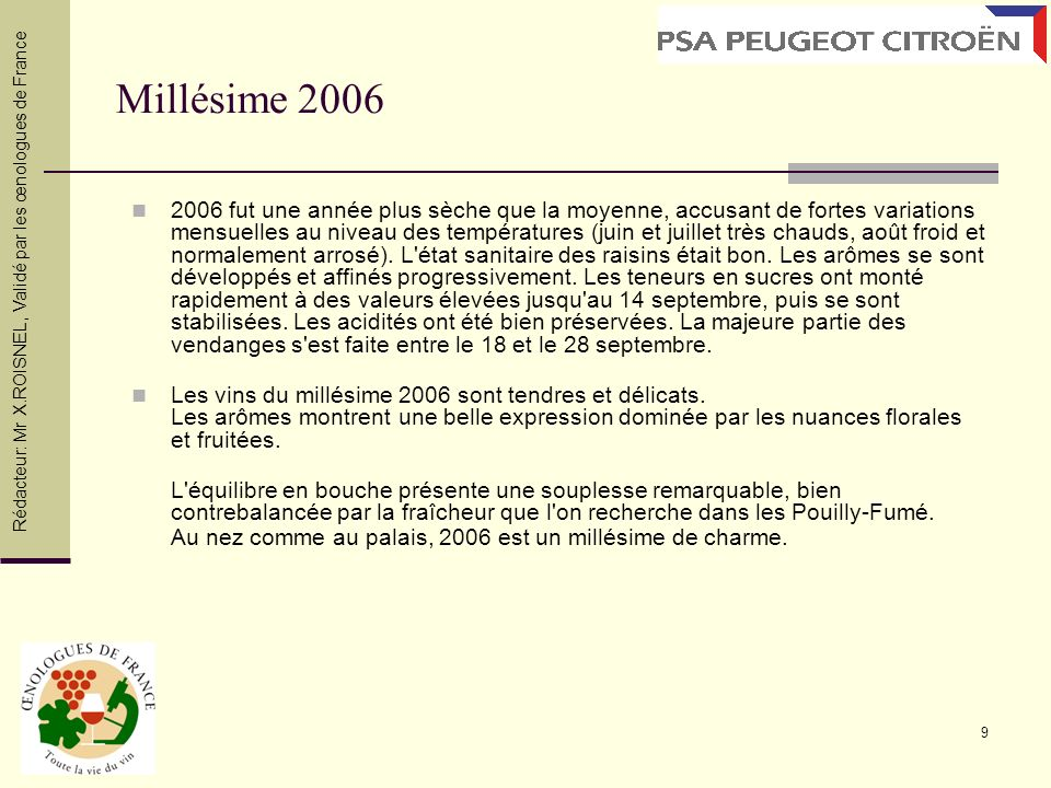 Millésime 2006