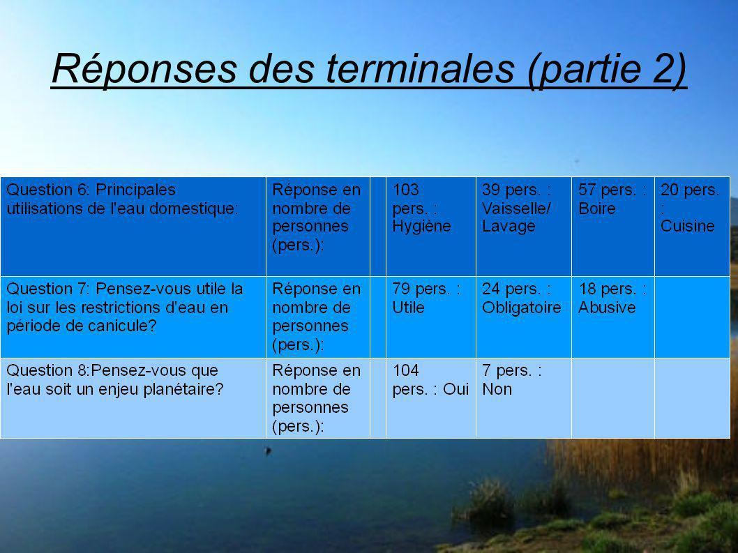 Réponses des terminales (partie 2)