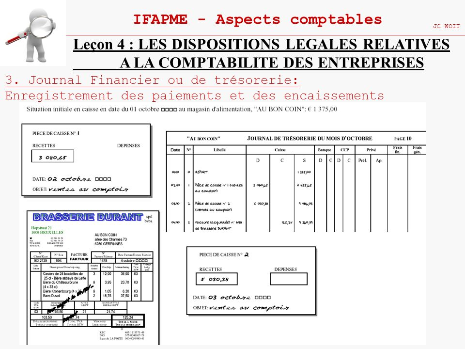 IFAPME - Aspects comptables