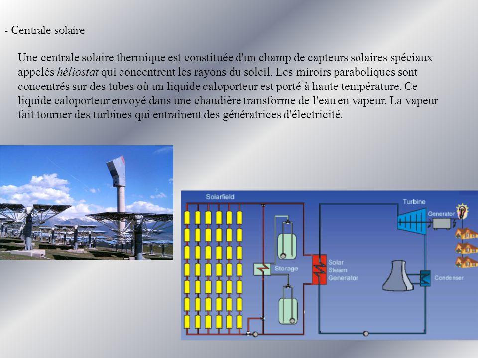 - Centrale solaire