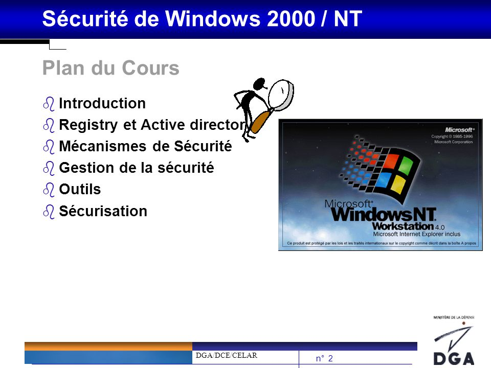 Plan du Cours Introduction Registry et Active directory