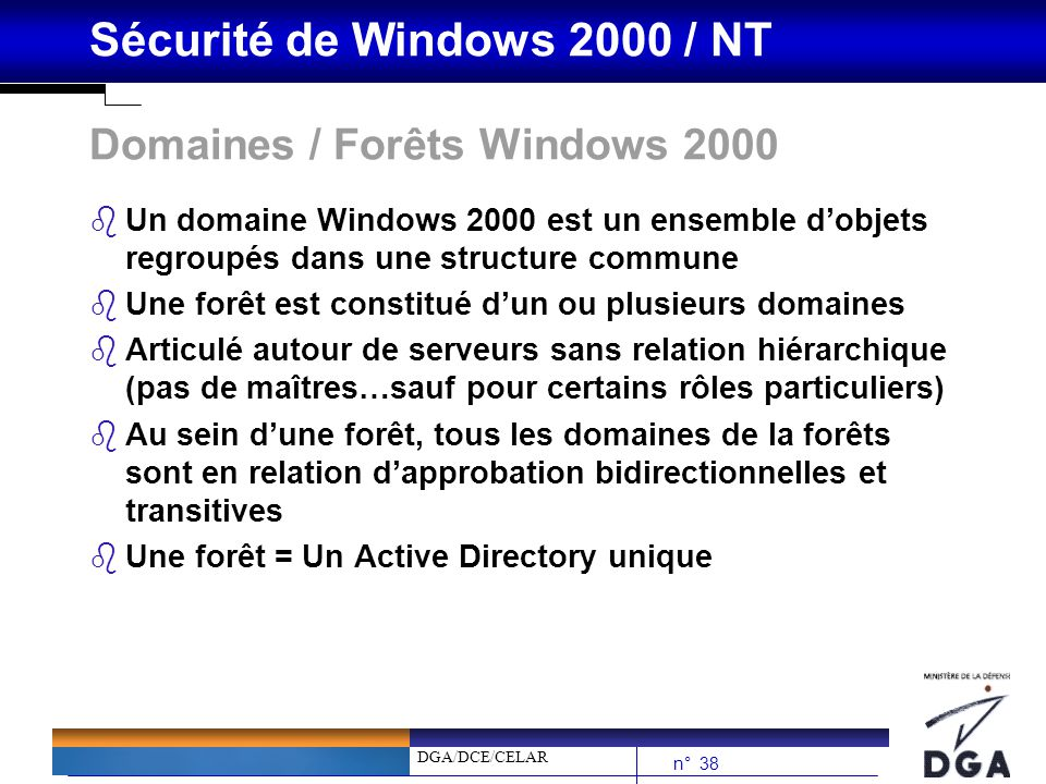 Domaines / Forêts Windows 2000