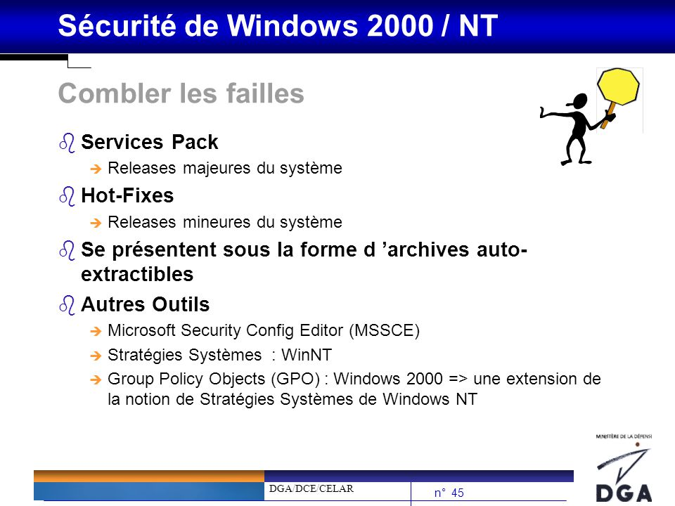 Combler les failles Services Pack Hot-Fixes