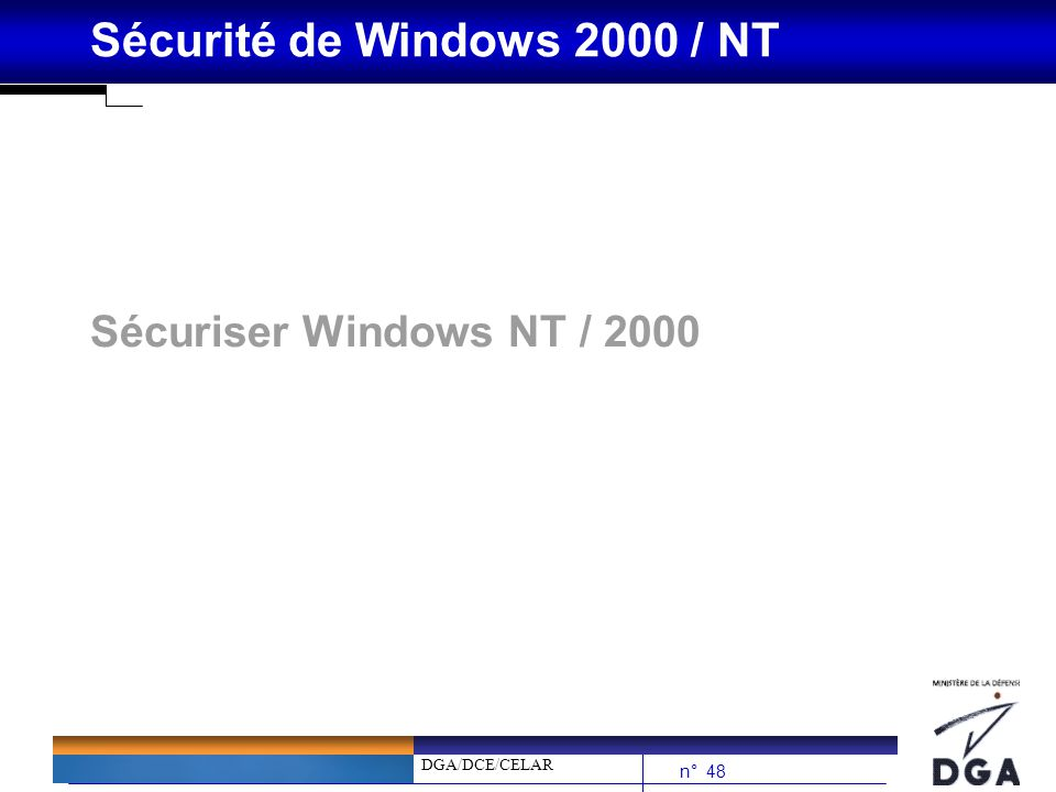 Sécuriser Windows NT / 2000