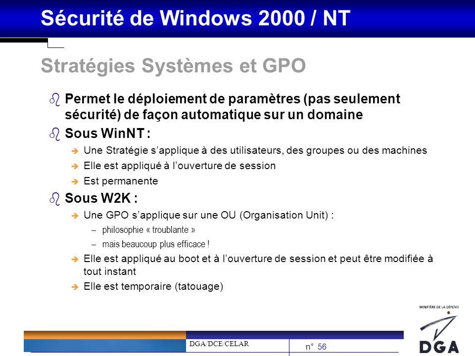 Stratégies Systèmes et GPO