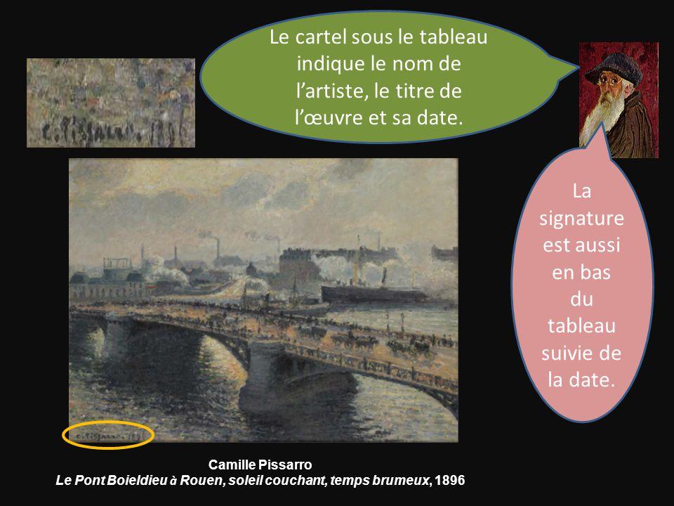 Le Pont Boieldieu à Rouen, soleil couchant, temps brumeux, 1896