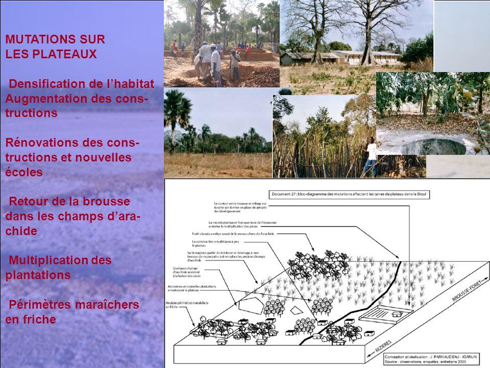 MUTATIONS SUR LES PLATEAUX. Densification de l'habitat. Augmentation des cons- tructions. Rénovations des cons-