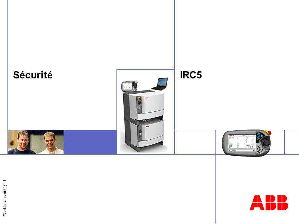 Sécurité IRC5