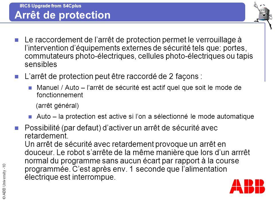 Arrêt de protection