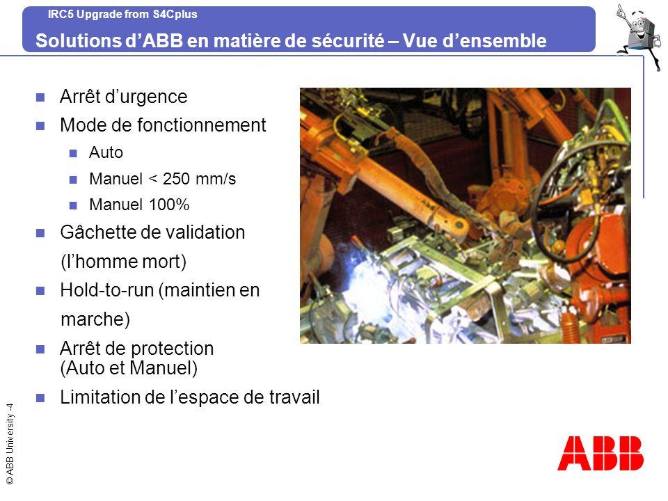 Solutions d'ABB en matière de sécurité – Vue d'ensemble