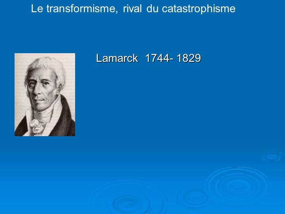Le transformisme, rival du catastrophisme