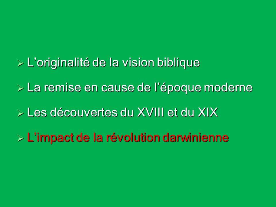 L'originalité de la vision biblique