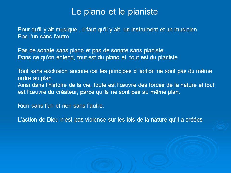 Le piano et le pianiste Pour qu'il y ait musique , il faut qu'il y ait un instrument et un musicien.