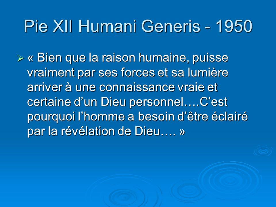 Pie XII Humani Generis - 1950