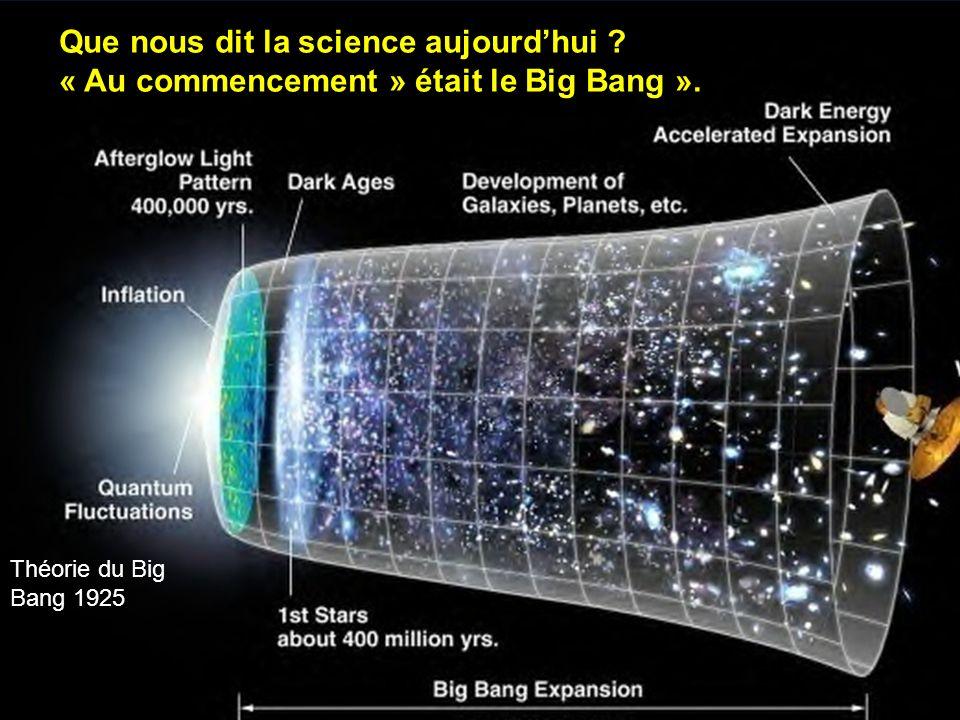Que nous dit la science aujourd'hui