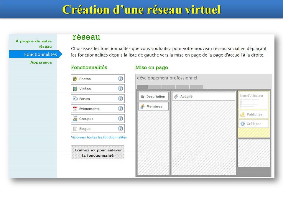 Création d'une réseau virtuel