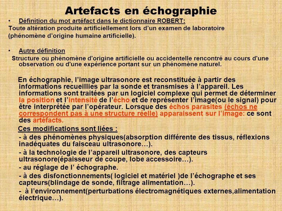 Artefacts en échographie