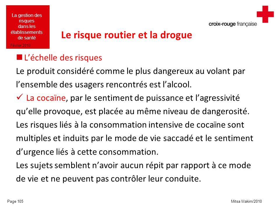 Le risque routier et la drogue