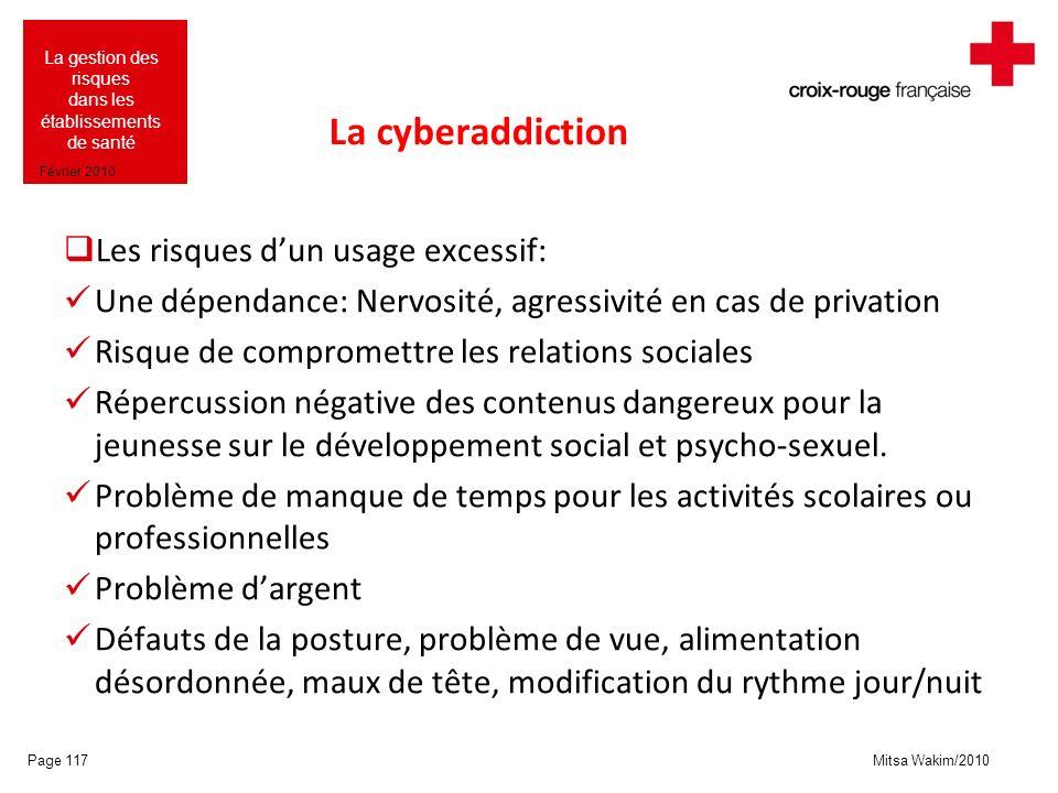 La cyberaddiction Les risques d'un usage excessif: