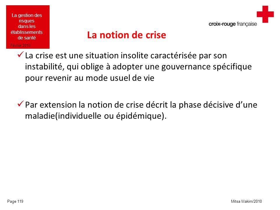 La notion de crise