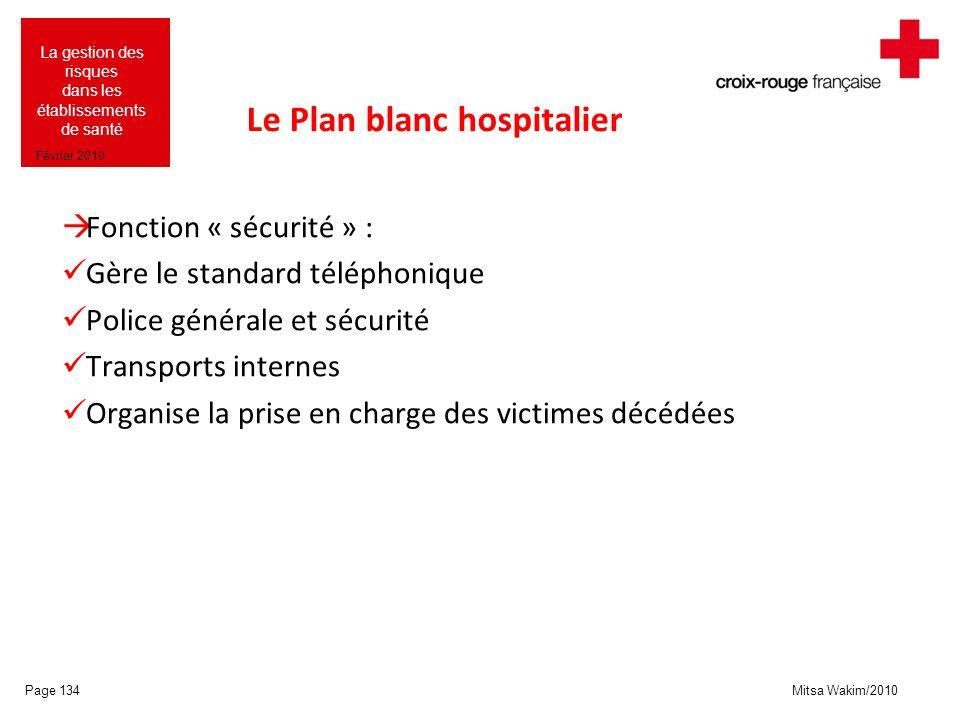 Le Plan blanc hospitalier