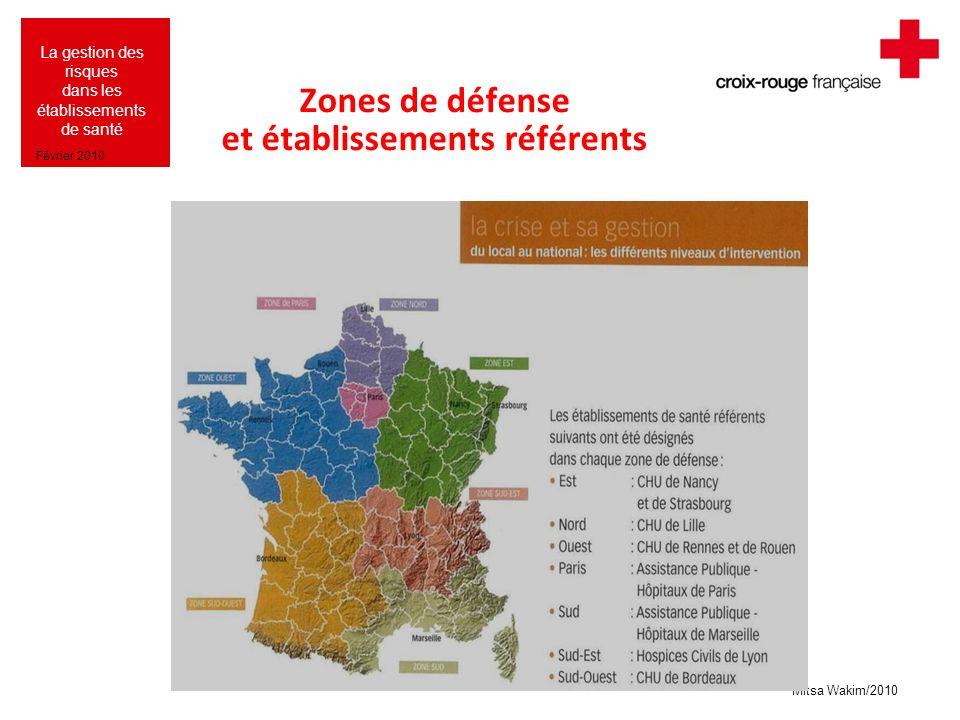Zones de défense et établissements référents