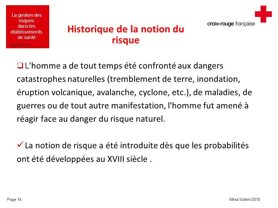 Historique de la notion du risque