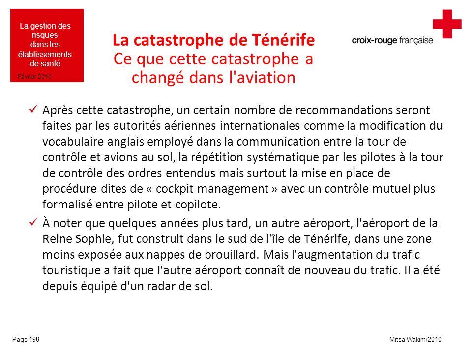 La catastrophe de Ténérife Ce que cette catastrophe a changé dans l aviation