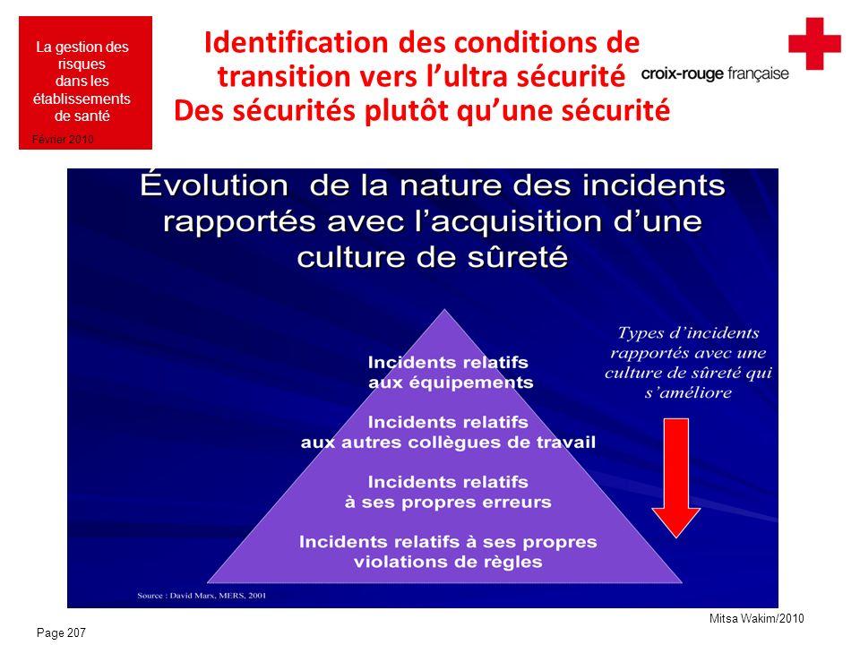Identification des conditions de transition vers l'ultra sécurité Des sécurités plutôt qu'une sécurité