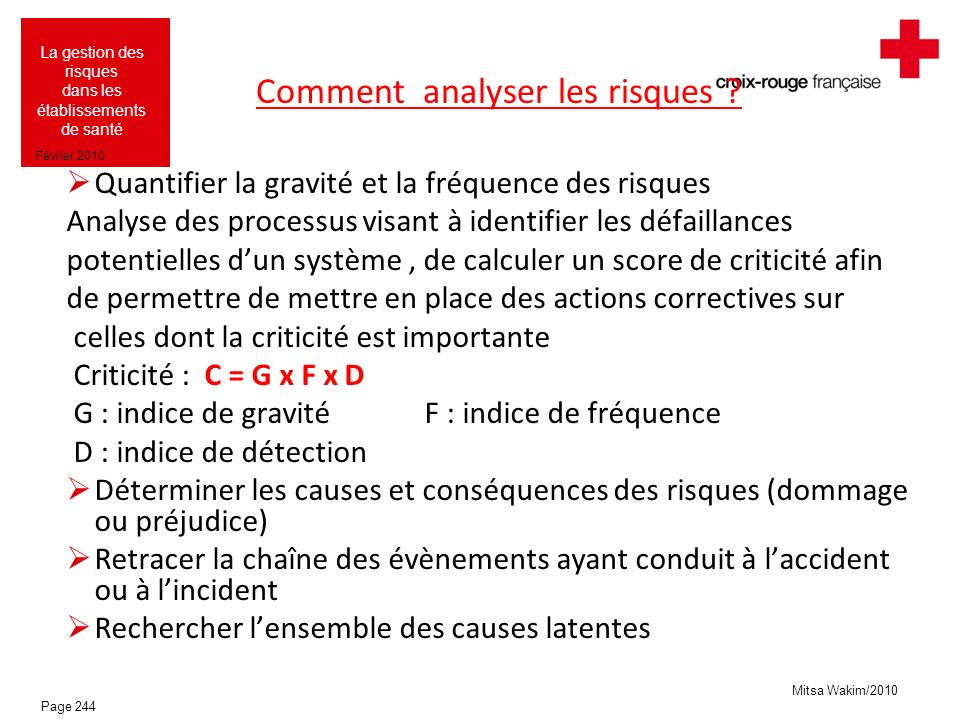 Comment analyser les risques