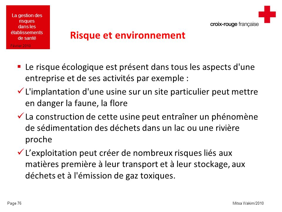 Risque et environnement
