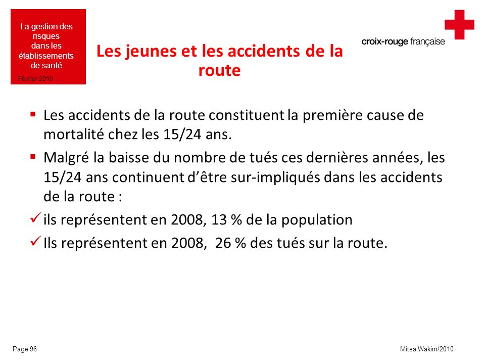 Les jeunes et les accidents de la route