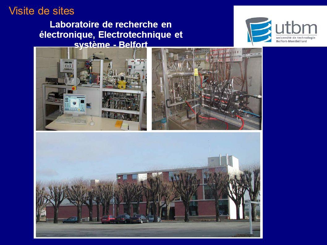 Visite de sites Laboratoire de recherche en électronique, Electrotechnique et système - Belfort