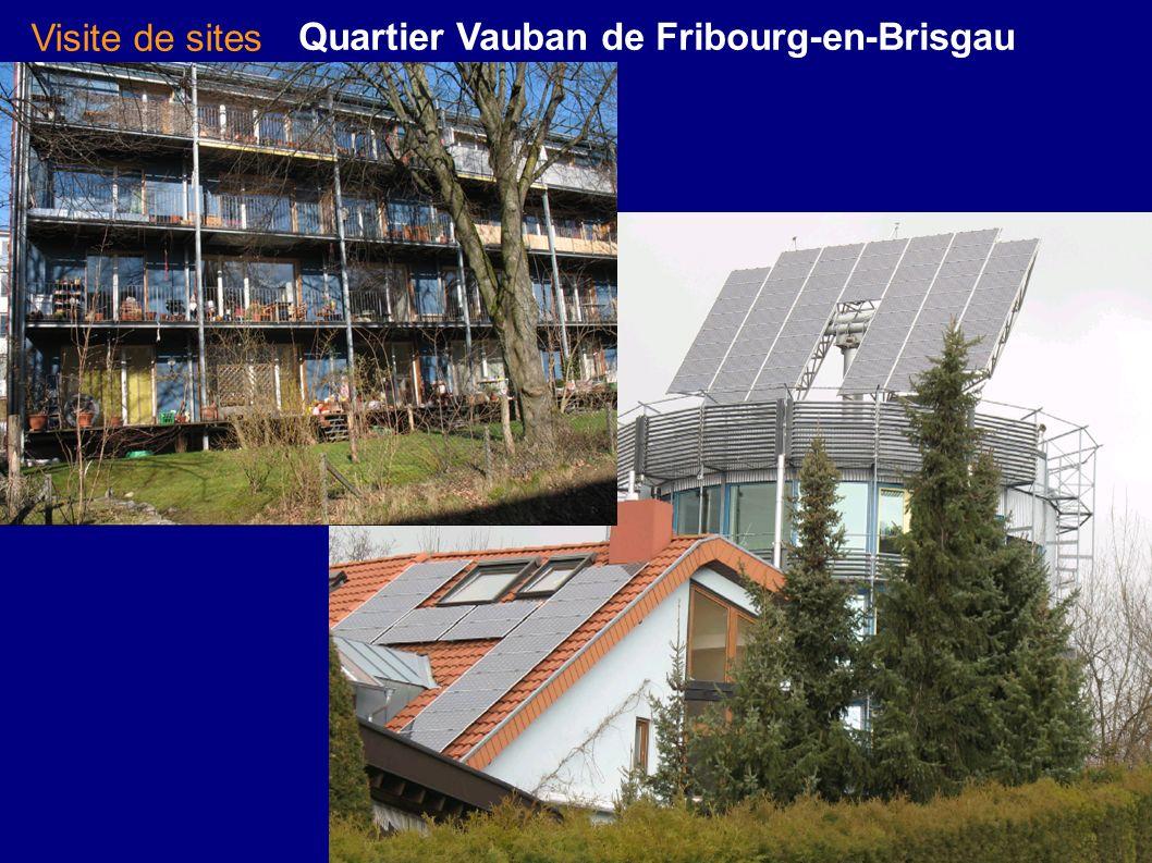 Visite de sites Quartier Vauban de Fribourg-en-Brisgau