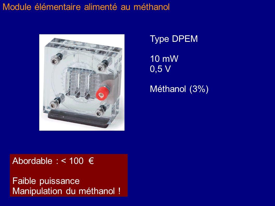 Module élémentaire alimenté au méthanol