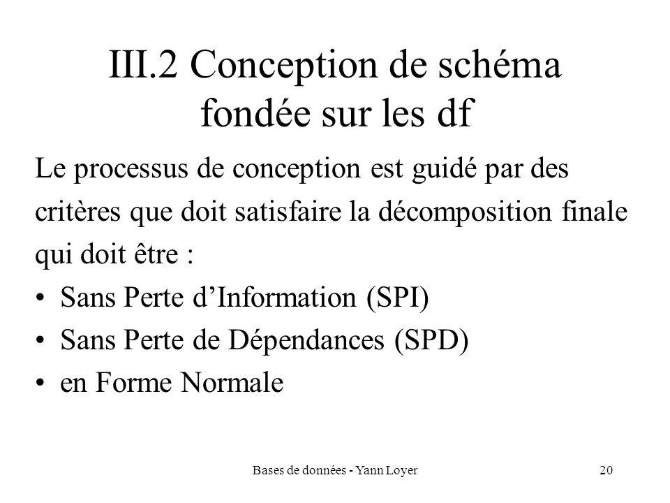 III.2 Conception de schéma fondée sur les df