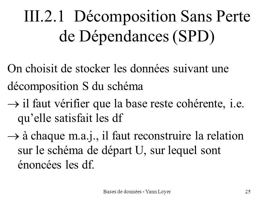 III.2.1 Décomposition Sans Perte de Dépendances (SPD)