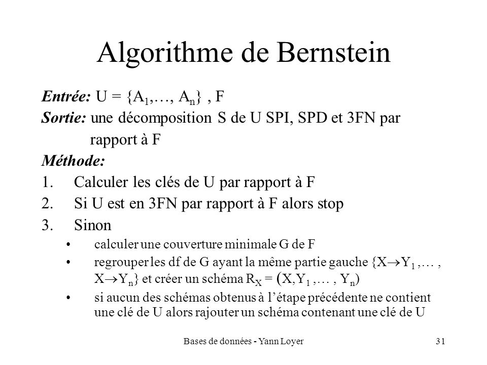 Algorithme de Bernstein